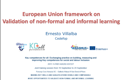 European Union framework on Validation of non-formal and informal learning